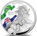 Британские Виргинские Острова 10 долларов 2016.Волейбол – Олимпийские Игры в Бразилии.Арт.60