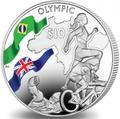 Британские Виргинские Острова 10 долларов 2016.Триатлон – Олимпийские Игры в Бразилии (велосипед бег плавание).Арт.60