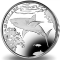 Британские Виргинские Острова 10 долларов 2016.Большая белая акула.Арт.60