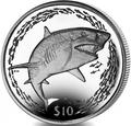 Британские Виргинские Острова 10 долларов 2016.Лимонная акула.Арт.60