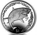 Британские Виргинские Острова 1 доллар 2016.Лимонная акула.Арт.60