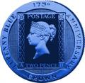 Остров Вознесения 1 крона 2015.Синяя марка – Два пенни (Two Penny Blue).Арт.60