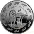 Бенин 1000 франков 2016.Лев с детенышем серия Охрана природы.Арт.60