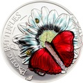 Танзания 1000 шиллингов 2016 Бабочка Красный Планер Хобарта Экзотические Бабочки 3D (Tanzania 1000Sh 2016 Exotic Butterflies Cymothoe Hobarti 3D Silver Coin).Арт.000451952664/60