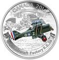 Канада 20 долларов 2016.Королевский авиационный завод S.E.5A.Самолеты Первой Мировой войны.Арт.60