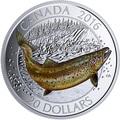Канада 20 долларов 2016.Атлантический лосось.Арт.60