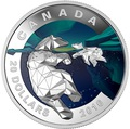 Канада 20 долларов 2016.Белый медведь – Геометрия в искусстве.Арт.60