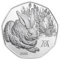 Австрия 5 евро 2016.Заяц – Альбрехт Дюрер.Арт.60