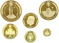 Габон 20000 10000 5000 3000 1000 франков 1969 Аполлон 11 Полет на Луну Космос Набор 5 Монет (Gabon 20000 10000 5000 3000 1000 Francs Apollo 11 Space Gold 5 Coin Set). Арт. КМ6-10/60