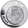 Испания 10 евро 2015.400 лет монетному двору Мадрида серия Сокровища нумизматики (Монеты на монетах).Арт.60