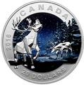 Канада 20 долларов 2016.Олень Карибу – Геометрия в искусстве.Арт.60