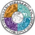 Остров Мэн 1 крона 2008.Международный год планеты Земля (Титан четыре цвета).Арт.000240016534