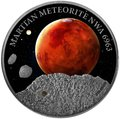 Ниуэ 1 доллар 2016.Метеорит – Марс NWA 6963 (Martian Meteorite NWA 6963).Арт.60