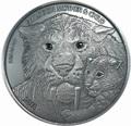 Буркина Фасо 30000 франков 2013.Смилодон с детенышем (эффект реальных глаз) (3 килограмма).Арт.60