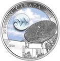 Канада 20 долларов 2016.Радиотелескоп звезда.Космос.Вселенная.Арт.60