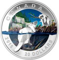 Канада 20 долларов 2016.Бобер – Геометрия в искусстве.Арт.60