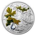 Канада 20 долларов 2016 Клен Капля Дождя (Canada 20C$ 2016 Bigleaf Maple Raindrop Swarovski Silver Proof).Арт.000465753937/67
