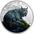 Канада 20 долларов 2016.Рысь серия Величественные животные.Арт.60