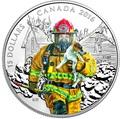 Канада 15 долларов 2016.Пожарный – Национальные герои.Арт.60