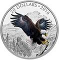 Канада 20 долларов 2016.Белоголовый орел серия Величественные животные.Арт.60