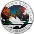 Канада 20 долларов 2016.Кленовый лист – Геометрия в искусстве.Арт.60