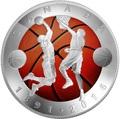 Канада 25 долларов 2016.Баскетбол – 125-лет изобретения баскетбола (выпуклая форма).Арт.60