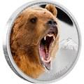 Ниуэ 2 доллара 2016.Медведь Гризли серия Короли Континентов.Арт.60