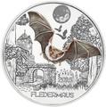 Австрия 3 евро 2016.Летучая мышь серия Красочные существа (Colourful Creatures The Bat).Арт.60