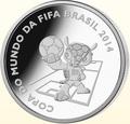 Бразилия 5 реалов 2014. Футбол – ФИФА 2014 – Чемпионат мира в Бразилии – Талисман.Арт.000470950612/60
