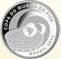 Бразилия 5 реалов 2014.Футбол – ФИФА 2014 – Чемпионат мира в Бразилии – Стадион.Арт.000470950609/60