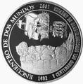 Гондурас 100 лемпир 1992.Корабль – 500 лет открытия Америки.Арт.60