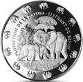 Бенин 1000 франков 2016.Слон с детенышем серия Охрана природы.Арт.60