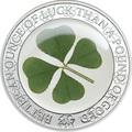Палау 5 долларов 2017 Клевер – Унция удачи (Palau 5$ 2017 Ounce of Luck 4-leaf clover).Арт.60