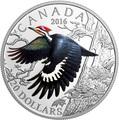 Канада 20 долларов 2016.Птица Хохлатая желна (Дятел).Арт.60
