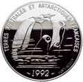 Франция 100 франков 1992.Пингвины – Французские Антарктические Территории.Арт.60
