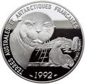 Франция 100 франков 1992.Тюлени – Французские Антарктические Территории.Арт.60