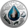 Канада 20 долларов 2017.Подводная жизнь 3D капля.Арт.60