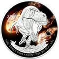 Канада 10 долларов 2016.Динозавр Тираннозавр Рекс (Tyrannosaurus rex) – Метеорит Кампо-дель-Сьело (Campo del Cielo).Арт.60