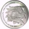 Буркина Фасо 500 франков 2016.Динозавр – Стегозавр (Stegosaurus).Арт.60