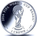 Мэн 1 крона 2012.Футбол – ФИФА 2014 – Чемпионат мира в Бразилии (Эмблема).Арт.60