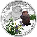 Канада 20 долларов 2016.Сурок – Детеныши животных.Арт.60