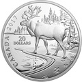 Канада 20 долларов 2017 Лесной Олень (Canada 20$ 2017 Paw Prints on the Edge Woodland Caribou).Арт.000451453187/60