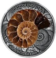Буркина Фасо 1000 франков 2016 Аммонит – Мир эволюции (Ammonite Fossil).Арт.60