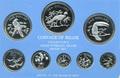 Белиз 16,91 долларов 1976.Птицы (Набор 8 монет).Арт.60