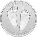 Канада 10 долларов 2017.Добро пожаловать в мир - Монета на рождение (Ножки).Арт.60