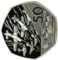 Великобритания 50 пенсов 1994.День-Д – Высадка в Нормандии.Арт.60
