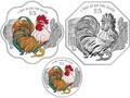 Сингапур 12 долларов 2017.Год Петуха – Лунный календарь (Набор из трех монет).Арт.60