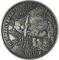 Буркина Фасо 1000 франков 2016.Медведь Гризли (Grizzly).Арт.60