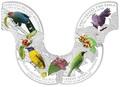 Камбоджа 4х3000 риелей 2015.Птицы Сингапура серия Открытие природы.Арт.60