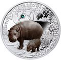 Ниуэ 1 доллар 2016.Карликовый Бегемот серия Вымирающие виды животных.Арт.60